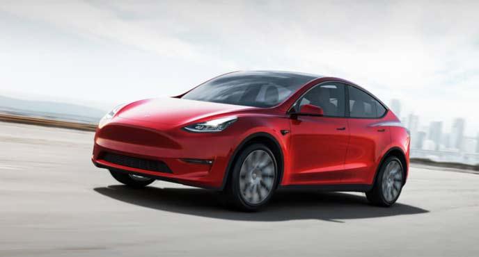 テスラの新型SUVモデルYのエクステリア