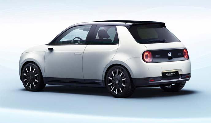 新型電気自動車「Honda e(ホンダ イー)」のエクステリア