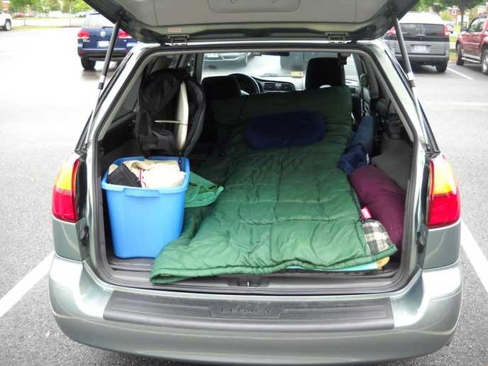 車中泊の防寒対策がしっかりした車