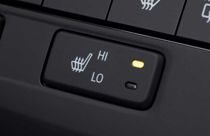 新型ステップワゴンの2段階の温度調節が可能なシートヒーター