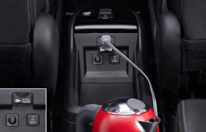 新型ステップワゴンの家庭用100V電源