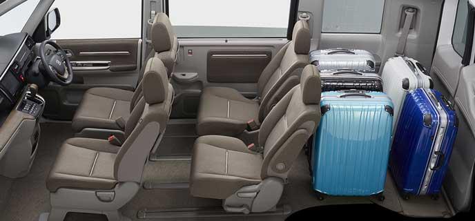 広い荷室の新型ステップワゴン