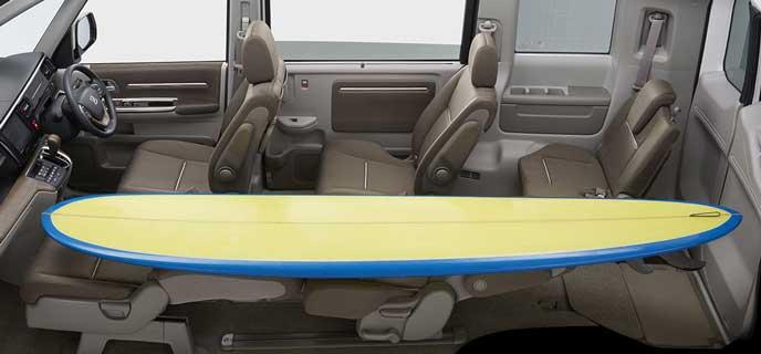サーフボードも乗る新型ステップワゴン