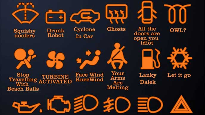 エンジン警告灯の種類