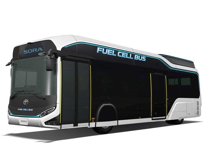 TMS2017に出展されたFCバスのSORA