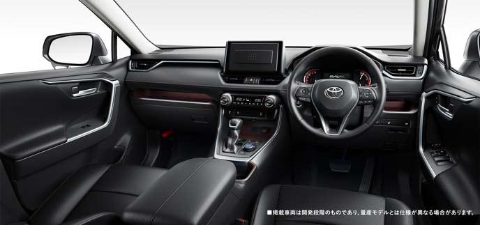 日本仕様の新型RAV4の内装