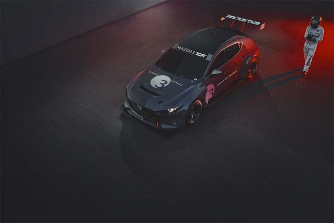 新型MAZDA3 TCRレースカーのエクステリア