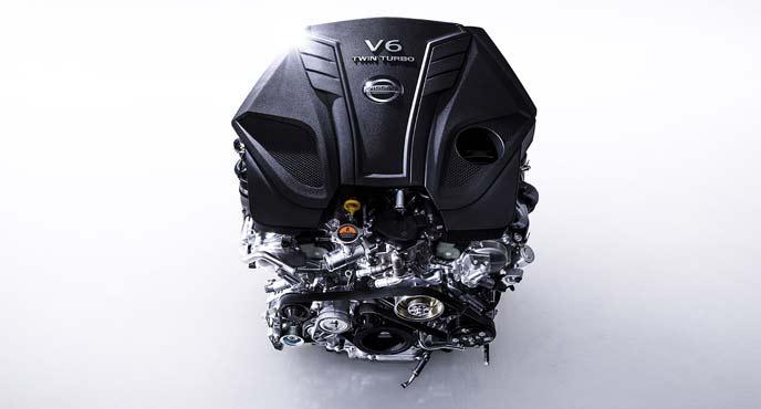 新型スカイライン特別仕様車400Rに搭載される3.0L V6ツインターボエンジン