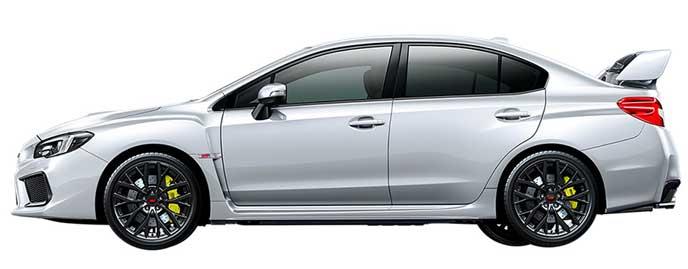 クリスタルホワイト・パールの新型WRX STI