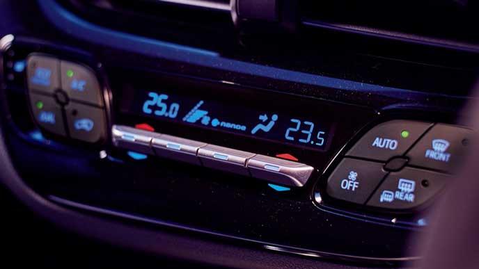新型C-HRのエアコン