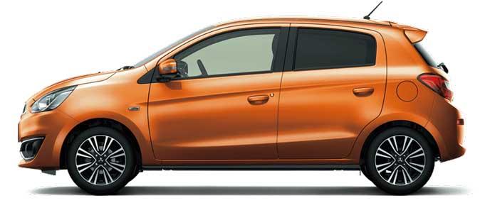 サンライズオレンジメタリックの新型ミラージュ