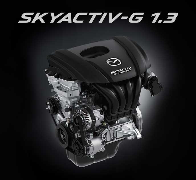新型デミオのSKYACTIV-G 1.3エンジン