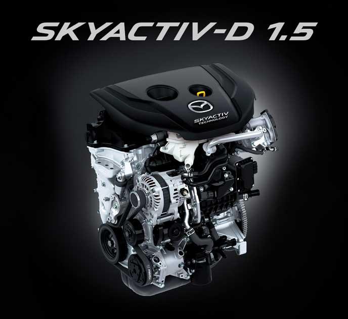 新型デミオのSKYACTIV-D 1.5エンジン