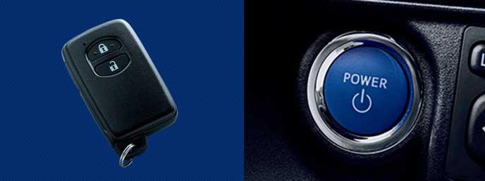 アクア特別仕様車S Style Blackのキーレスエントリー