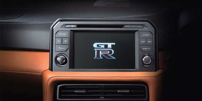 新型GT-Rのナビゲーションシステム