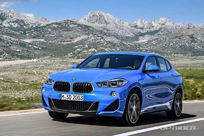 BMW新型X2のフロントビュー