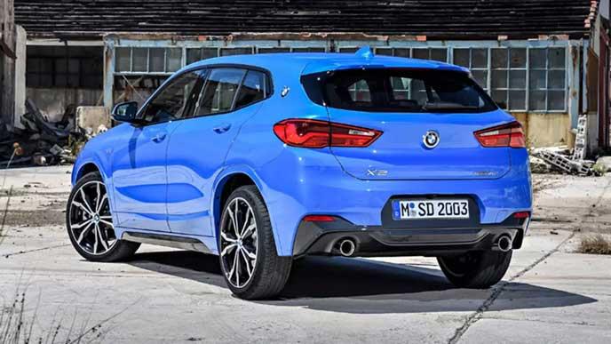 BMW新型X2のリヤビュー