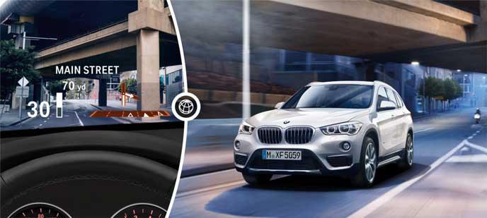 BMW新型X2のヘッドアップディスプレイ