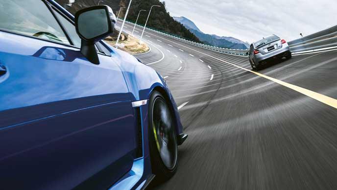 ブルーのWRX STI
