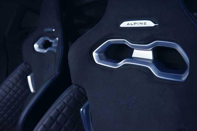 新型アルピーヌ A110のシート