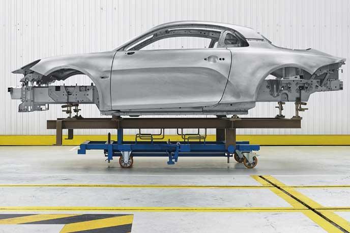 新型アルピーヌ A110のプラットフォーム