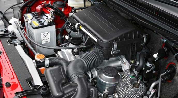 新型テリオスのエンジン