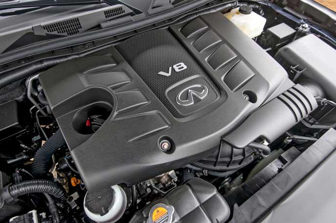 新型QX80のエンジン