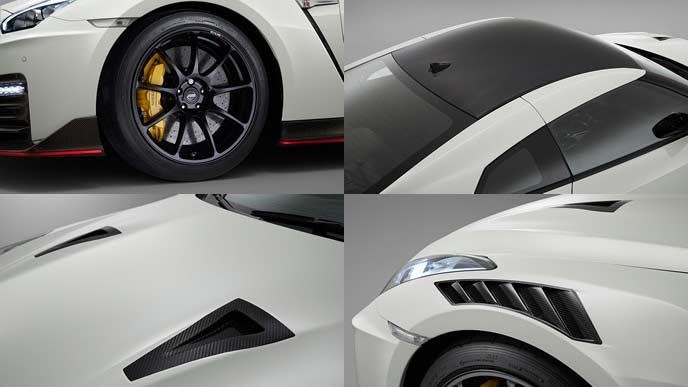 GT-Rニスモ2020年モデルのエクステリアのパーツ