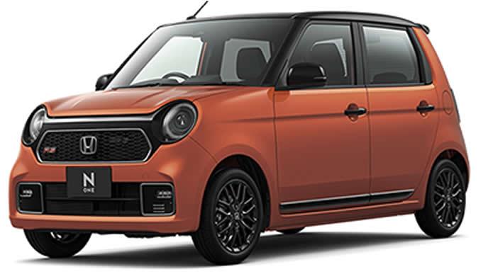 サンセットオレンジ×ブラックの新型N-ONE