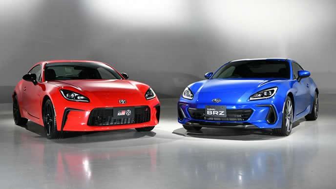 新型GR86と新型BRZのエクステリア