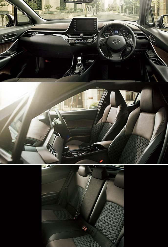 トヨタ・C-HRのGとG-Tに標準設定されるオーキッドブラウンの内装カラー