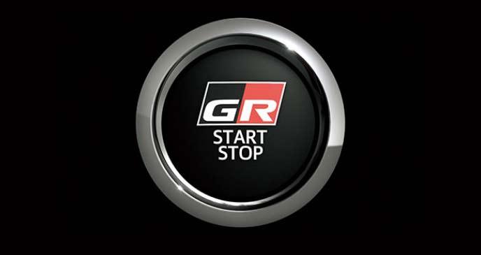 GR専用デザインのスタートスイッチ