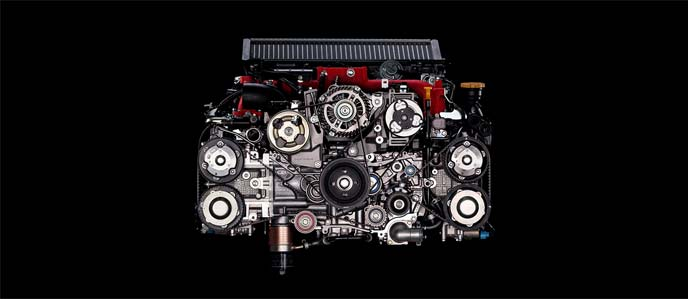 WRX STI 特別仕様車「EJ20 Final Edition」のEJ20型水平対向エンジン