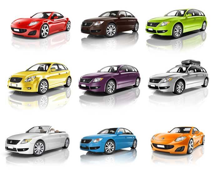 様々なボディタイプの車