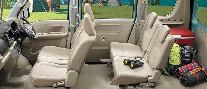 エブリイ ワゴン JPターボ ハイルーフ 4WDの内装