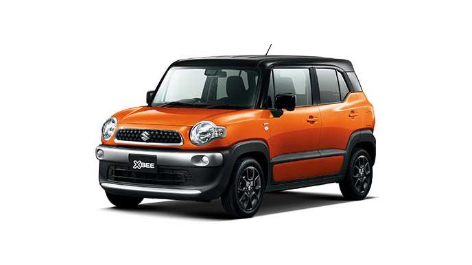フレイムオレンジパールメタリック ブラック2トーンルーフの新型クロスビー