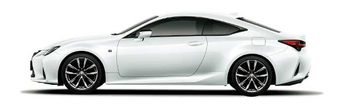 ホワイトノーヴァガラスフレーク(Fスポーツ専用色)の新型RC