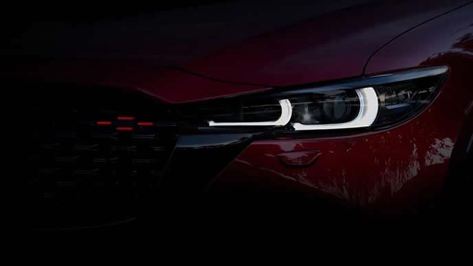 2021年にマイナーチェンジする欧州モデルCX-5のヘッドライト