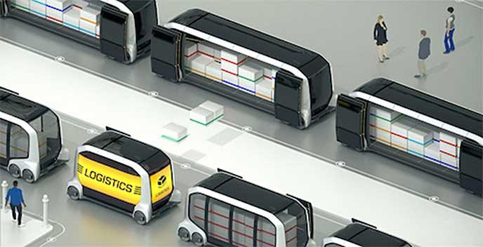 物流網で荷物を収納するe-Palette Concept