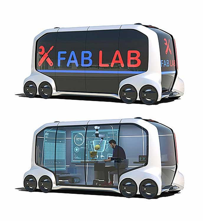 FAB LABで使用されるe-Palette Conceptのイメージ