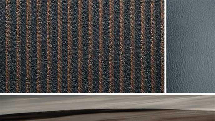 エルグランド「ハイウェイスター ジェットブラックアーバンクロム」のシート地、ネオソフィール・ジャカード織物