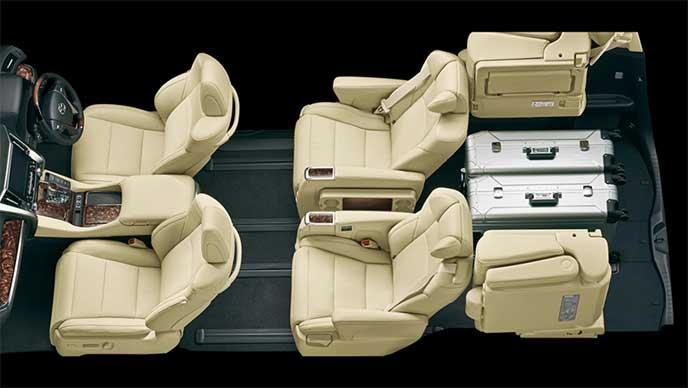 7人乗りモデルのシートアレンジ「4人乗車+荷室モード」