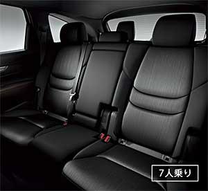 新型CX-8の7人乗りに搭載されるベンチシート