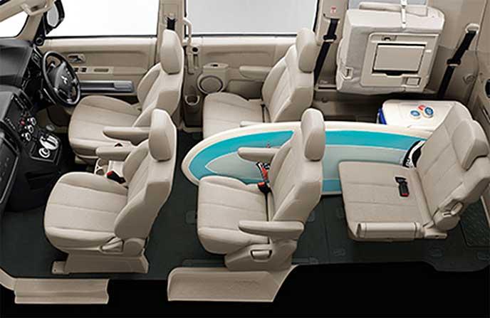 デリカD5「5名乗車+長尺ラゲッジルーム(7名乗りモデル)」