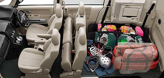 デリカD5「2名乗車+最大ラゲッジルーム」