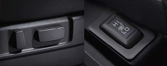 新型デリカD5のパワーシートとシートヒーター