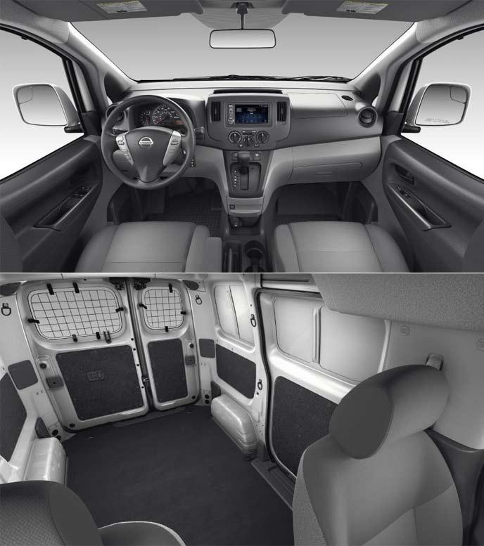 2020年モデルの日産NV200のコックピットや荷室スペース