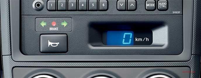 トヨタ新型教習車の指導員用インジケーターランプ