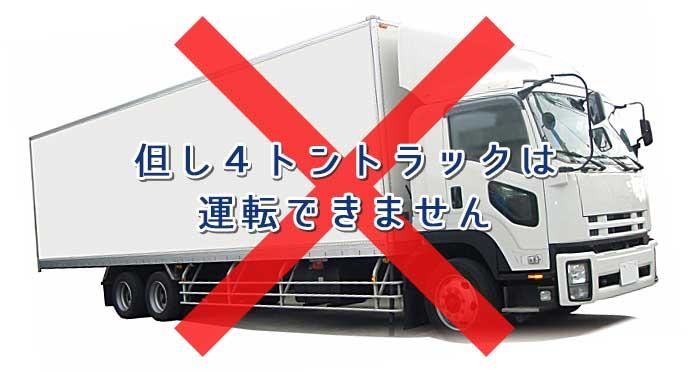 ×マークが付いたトラック