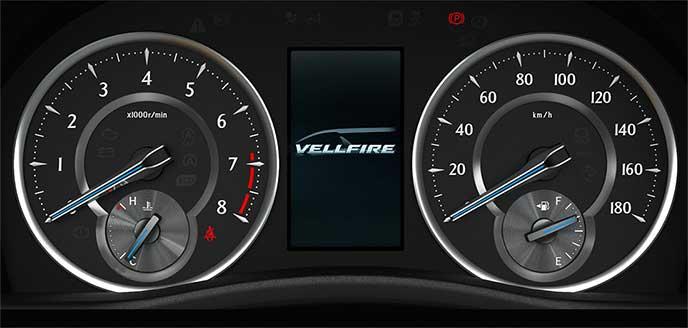 ヴェルファイア ガソリン車用のオプティトロンメーター